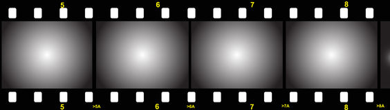 Film strip. Illustration of a film strip with gradient Royalty Free Stock Photo