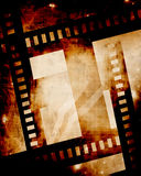 Film strip. Old film strip on a grunge background Royalty Free Stock Images