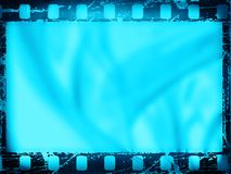Film strip. Old film frame, with grunge effects royalty free illustration