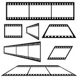Film Strip. Multiple film strips - different designs - additional ai and eps format available on request Royalty Free Stock Photography
