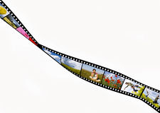 Film strip. With summer vacation photos Stock Photos