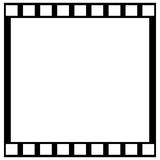 Film strip. Blank film strip on a white background Royalty Free Stock Photography
