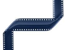 Film strip. Blue film strip on white Royalty Free Stock Photos