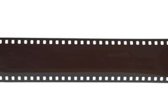 Film Strip. 35mm camera film strip isolated on white Royalty Free Stock Image