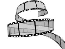 Film Strip. 3d Film Strip. White background. Digitally Generated Royalty Free Stock Photos