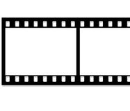Film strip. Graphic film strip illustration Stock Photography