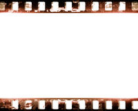 Film strip. Old film strip with some damage on it Royalty Free Stock Photography