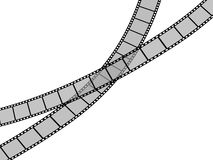Film Strip. 3d Film Strip. White background. Digitally Generated Stock Photography