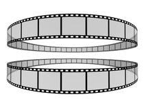 Film Strip 7. 3d film strip. White background Stock Images