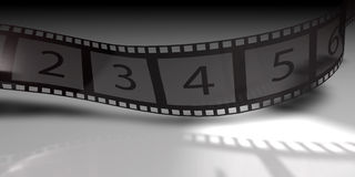 Film Strip. 3d background of a film reel Royalty Free Stock Photos