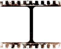 Film strip. Old film strip with some damage in it Royalty Free Stock Photo