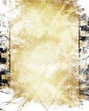 Film strip. Old film strip with some damage in it Stock Photography