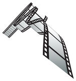 Film strip. Isolated film strip. vector illustration Stock Image