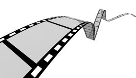 Film Strip. 3d Film Strip. White background. Digitally Generated Royalty Free Stock Images