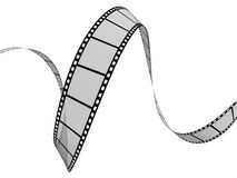 Film Strip. 3d Film Strip. White background. Digitally Generated Stock Photos