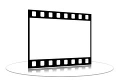 Film strip. Shots on a white background on a transparent support Stock Images