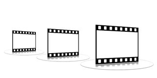 Film strip. Shots on a white background on a transparent support Royalty Free Stock Images