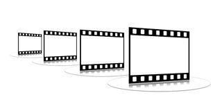 Film strip. Shots on a white background on a transparent support Royalty Free Stock Photography