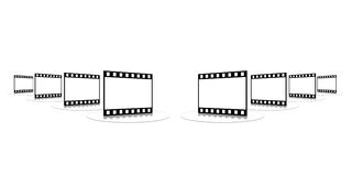 Film strip. Shots on a white background on a transparent support Stock Photography