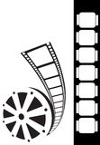 Film strip. Design - film coming from role Royalty Free Stock Photos