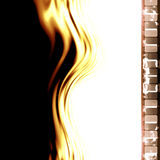 Film strip. Old film strip with some damage on it Royalty Free Stock Photos