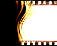 Film strip. Old film strip with some damage on it Royalty Free Stock Photo