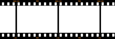 Film Strip. Drawing of a film strip Stock Photography
