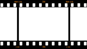 Film Strip. Frame with one full blank area Royalty Free Stock Photo