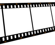 Film strip. Frame at an angle Stock Image