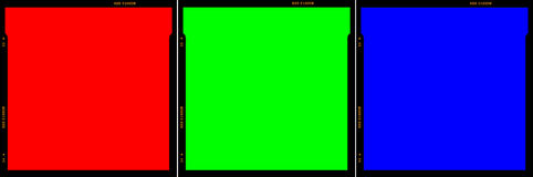 Film Strip. Red Green Blue RGB Royalty Free Stock Image