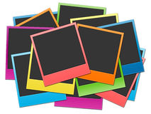 Film strip. Many shots on a white background in rainbow colour Stock Photos