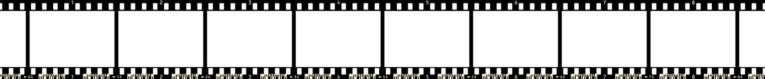 Film strip x 8. Film Strip (8 Frames, with numbers and film code Royalty Free Illustration