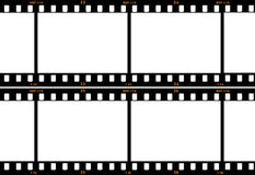 Film Strip. Showing four full frames and four half size frames on each side Stock Photography