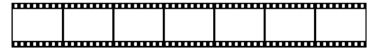 Film strip. Seven shots on a white background Royalty Free Stock Photo
