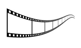 Film strip. Long film of shots on a white background Royalty Free Stock Image