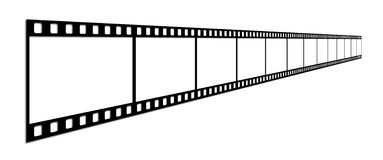 Film strip. Long film of shots on a white background Royalty Free Stock Photo