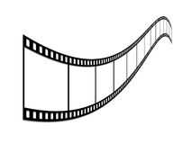 Film strip. Long film of shots on a white background Royalty Free Stock Photos
