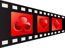 Film strip. With casino elements Stock Images
