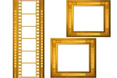 Film strip. And frame isolated Royalty Free Stock Image