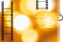 Film strip. And frame wirh backgound Royalty Free Stock Photography