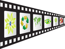 Film strip. With ecological image Royalty Free Stock Image