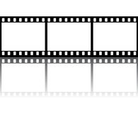 Film strip. With glossy reflection Stock Image