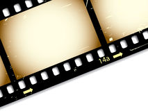 Film strip. With shadows and grunge Royalty Free Stock Image