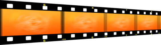 Film strip. Illustration of a film strip with gradient Royalty Free Stock Image