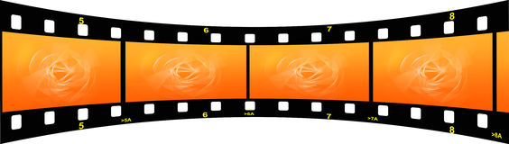 Film strip. Illustration of a film strip with gradient Royalty Free Stock Photos