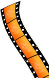 Film strip. Illustration of a film strip with gradient Royalty Free Stock Images