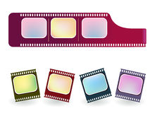 Film strip. Illustration  drawing of old negative film strip Stock Images