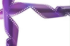 Film strip. In front of a white background Royalty Free Stock Photo