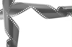 Film strip. In front of a white background Stock Photos