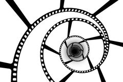Film strip abstract. Blank film strip abstract spiral vector illustration